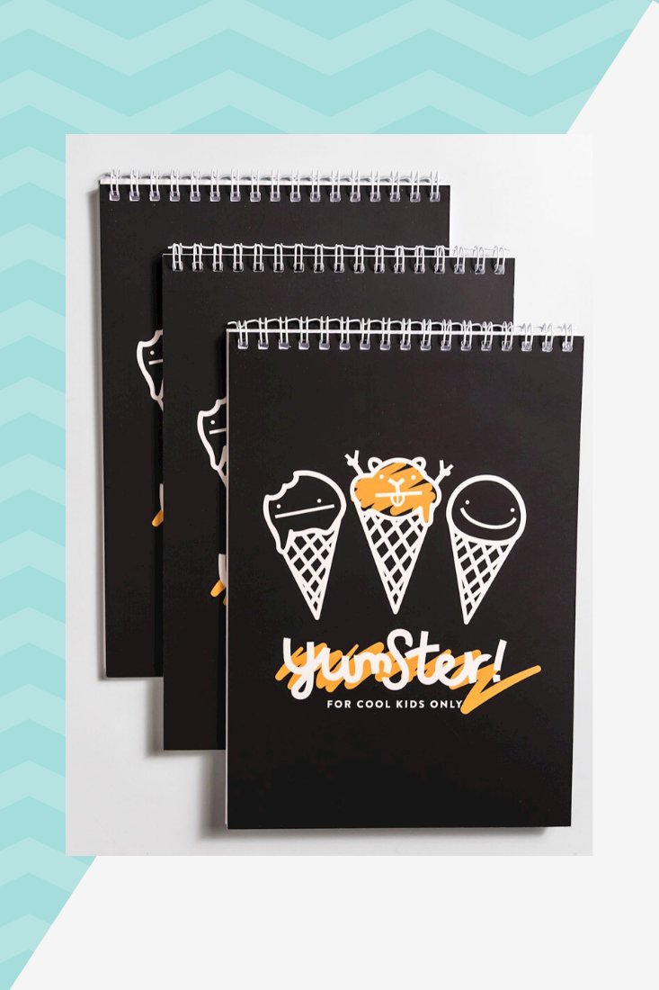 YUMSTER branded notepad