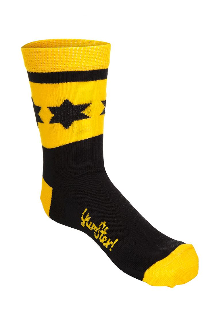 Sports Socks Black and Yellow
