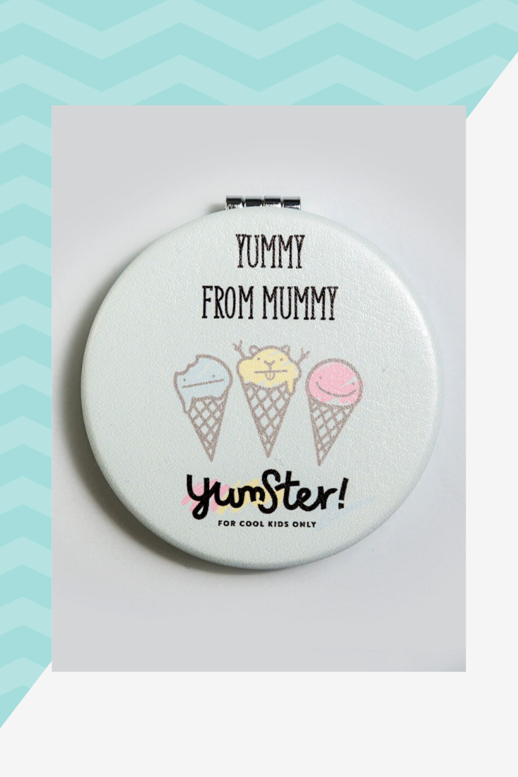 round mirror from yumster